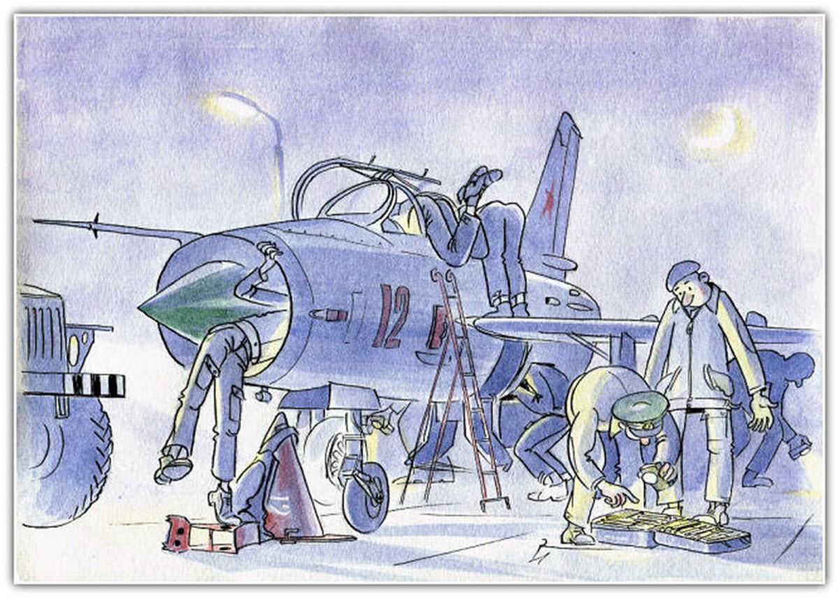 Смешные рисунки про авиацию, день
