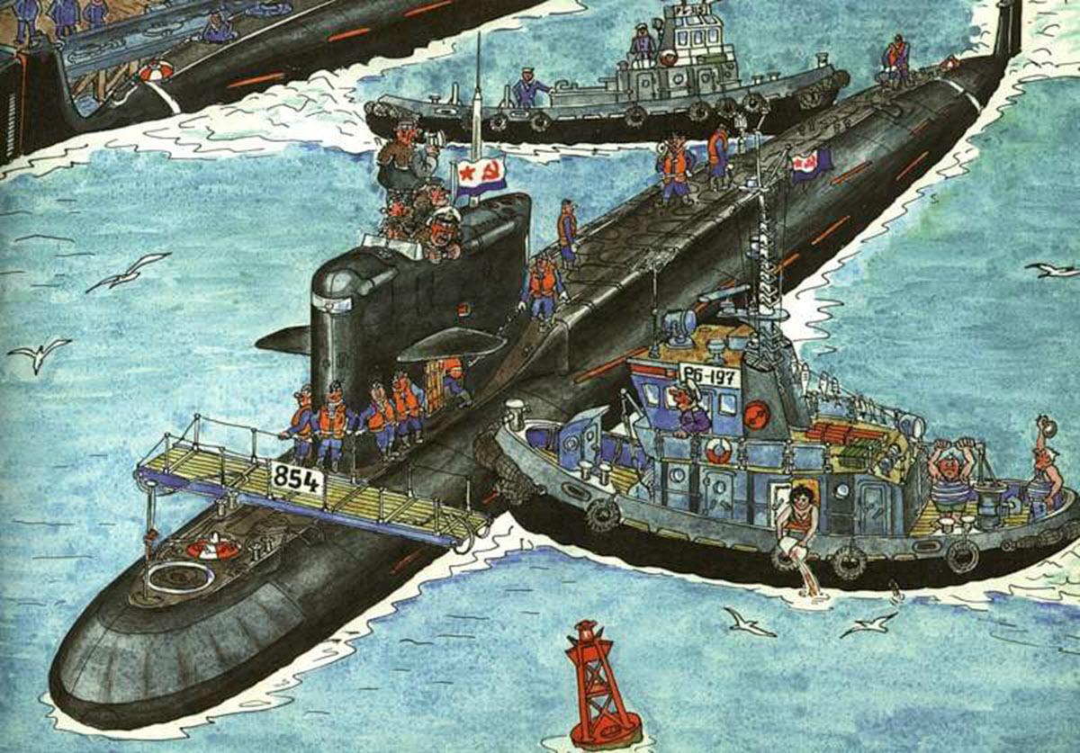 Подводные лодки смешные картинки, анимация