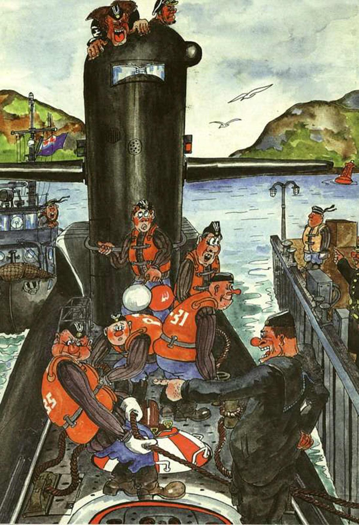 Юмористические картинки о подводниках