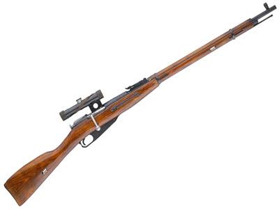 Снайперская Винтовка Мосина с прицелом ПУ