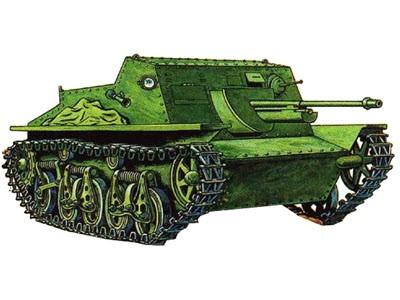 Плавающая САУ СУ-45(СУ-37)