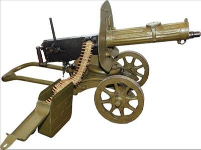 Пулемет Максим на зенитном станке Колесникова. Подборка-5