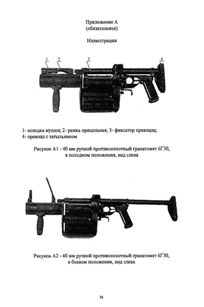 Руководство пользователя гранатомета РГ-6